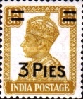 [King George VI, 1895-1952 - Stamp of 1941 Surcharged, Typ AV]