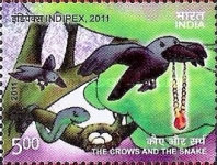 [International Stamp Exhibition INDIPEX 2011, New Delhi - Personalized Stamps, Panchtantra Tales, Typ BLX1]
