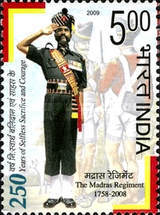 [The 250th Anniversary of the Madras Regiment, Typ CSC]