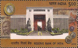 [The 75th Anniversary of the Reserve Bank of India, type CVH]