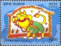 [International Stamp Exhibition INDIPEX 2011, New Delhi - Personalized Stamps, Astrological Signs, Typ CVR1]
