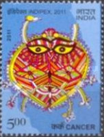 [International Stamp Exhibition INDIPEX 2011, New Delhi - Personalized Stamps, Astrological Signs, Typ CVU1]