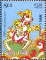 [International Stamp Exhibition INDIPEX 2011, New Delhi - Personalized Stamps, Astrological Signs, Typ CVV1]