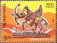 [International Stamp Exhibition INDIPEX 2011, New Delhi - Personalized Stamps, Astrological Signs, Typ CVX1]
