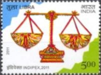 [International Stamp Exhibition INDIPEX 2011, New Delhi - Personalized Stamps, Astrological Signs, Typ CVZ1]