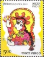 [International Stamp Exhibition INDIPEX 2011, New Delhi - Personalized Stamps, Astrological Signs, Typ CWA1]