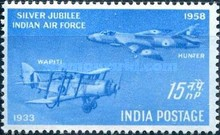 [Silver Jubilee of Indian Air Force, type DV]