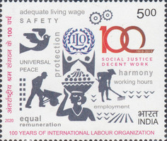 [The 100th Anniversary (2019) of the International Labour Organization, type EUE]