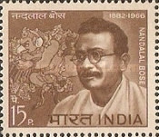 [The 1st Anniversary of the Death of Nandalal Bose (Painter), Typ IM]