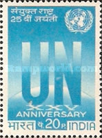[The 25th Anniversary of United Nations, type LK]