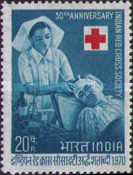 [The 50th Anniversary of Indian Red Cross, type LU]
