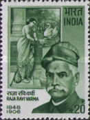 [The 65th Anniversary of the Death of Ravi Varma (Artist), Typ MH]