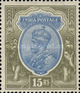 [King George V, 1865-1936 - New Watermark, Typ XBG12]