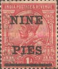 [King George V, 1865-1936 - Stamp of 1911 Surcharged in Black, Typ XBI]