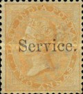 """[Postage Stamps Overprinted """"Service."""", Typ B3]"""