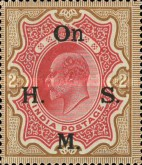 [Postage Stamps Overprinted, type M]