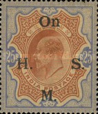 [Postage Stamps Overprinted, Typ M5]