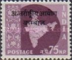 [India Postage Stamps Overprinted, Typ A9]
