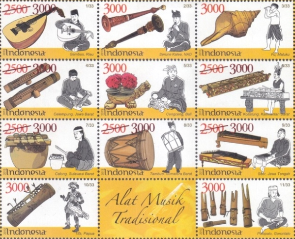 [Traditional Music Instruments Stamps of 2013 Surcharged, Typ ]