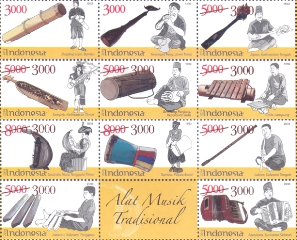 [Traditional Music Instruments Stamps of 2014 Surcharged, Typ ]