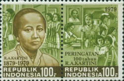 [The 100th Anniversary of Mrs. R. A. Kartini, Pioneer of Women's Rights, Typ AJG]