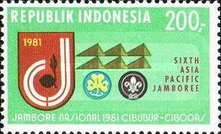 [The 6th Asia-Pacific Scout Jamboree, Cibubur, Typ ALY]