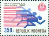 [The 14th Southeast Asia Games, Jakarta, Typ AUS]