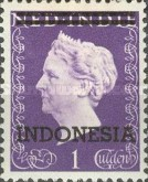 "[Queen Wilhelmina - Netherlands Indies Postage Stamps Overprinted ""INDONESIA"" - 2 Bars, Typ B]"