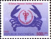[The 15th Anniversary of Indonesian Cancer Foundation Surcharged, Typ BCA]