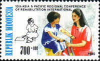[The 10th Asia and Pacific Regional Conference of Rehabilitation International, Indonesia Surtaxed, Typ BHS]