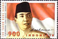 [The 100th Anniversary of the Birth of Dr. Ahmed Sukarno, Nationalist Leader and First President, 1901-1970, Typ CCG]