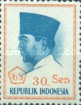 [President Sukarno - Overprinted '65 and Surcharged with new currency, Typ PT26]