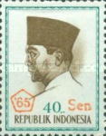 [President Sukarno - Overprinted '65 and Surcharged with new currency, Typ PT27]