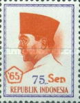 [President Sukarno - Overprinted '65 and Surcharged with new currency, Typ PT29]