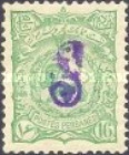 [No. 97-105 Handstamped in Violet, type Y3]