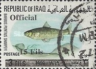 [Fish - Iraq Postage Stamps of 1969 Overprinted