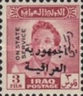 [King Faisal II - Iraq Official Stamps of 1948-1951 Overprinted in Arabic (Republik Iraq), type N3]