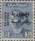 [King Faisal II - Iraq Official Stamps of 1958 Overprinted in Arabic (Republik Iraq), Typ P7]