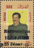 [Embargo - President Saddam Hussein Stamps of 1986 Surcharged, type VV11]