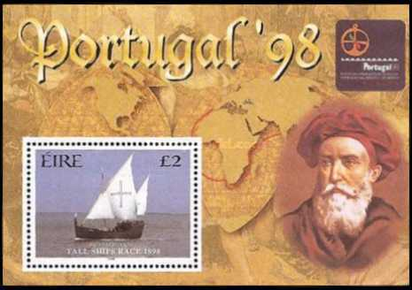 [International Exhibition of Stamps PORTUGAL `98, - Tall Ships Race - Dublin, Typ ]