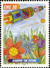 [International Children`s Paintings Competition - Stampin` the Future, type AJR]