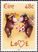 [Greeting Stamps - Young Animals - Chinese New Year - Year of the Monkey, type AVZ]