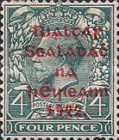 [Great Britain Stamps Overprinted in Bluish Black or Red - Overprint 14½ x 16mm, Typ C10]