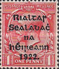[Great Britain Stamps Overprinted in Bluish Black or Red - Overprint 14½ x 16mm, type C5]