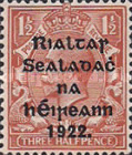 [Great Britain Stamps Overprinted in Bluish Black or Red - Overprint 14½ x 16mm, Typ C6]