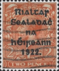 [Great Britain Stamps Overprinted in Bluish Black or Red - Overprint 14½ x 16mm, Typ C7]