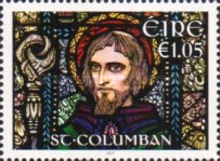[The 1400th Anniversary of the Death of St. Columban, 543-615, type DRX]