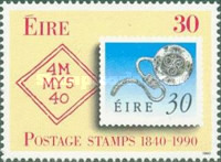 [The 150th Anniversary of the First Stamp, Typ QX]