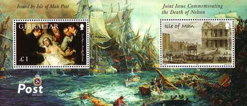 [The 200th Anniversary of the Battle of Trafalgar - Joint Isle of Man - Gibraltar Issue, type ]