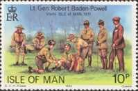 [The 75th Anniversary of the Boy Scout Movement, The 125th Anniversary of the Birth of Robert Baden-Powell, type GH]